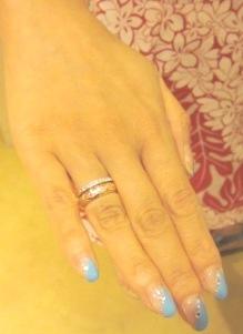 華奢なダイアモンドリングをコアナニで
