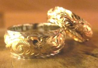 結婚指輪にコアナニスペシャルオーダー