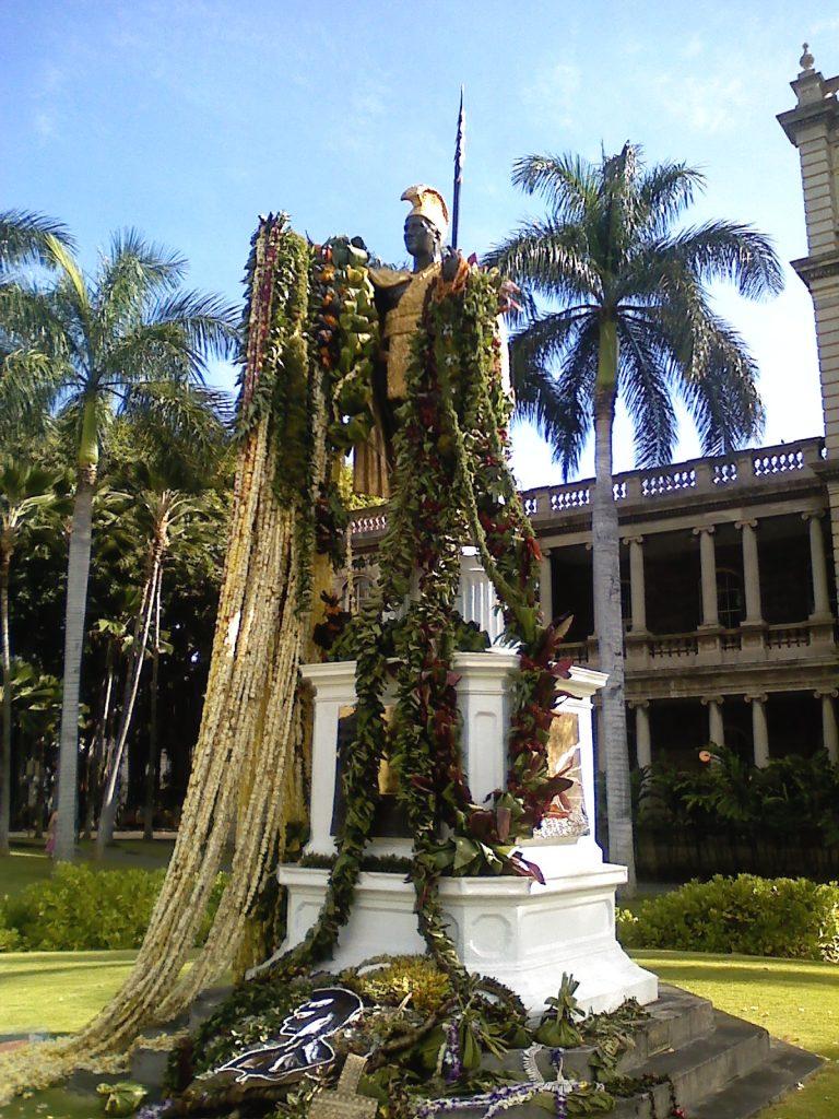今日のカメカメハ大王像は特別でした!
