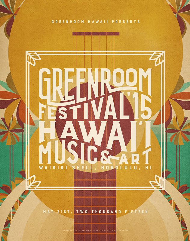 GREENROOM FESTIVAL Hawaiiポスター!