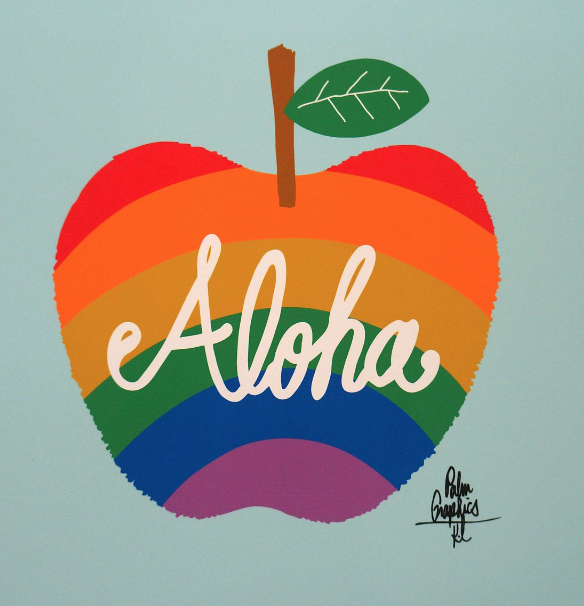 ALOHA x APPLE x RAINBOWなアート!