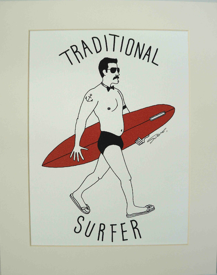 Traditional Surfer by Sho Watanabe