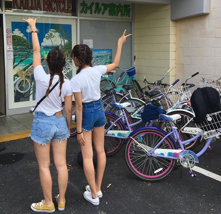 レンタル自転車はハンドブレーキ付きです!