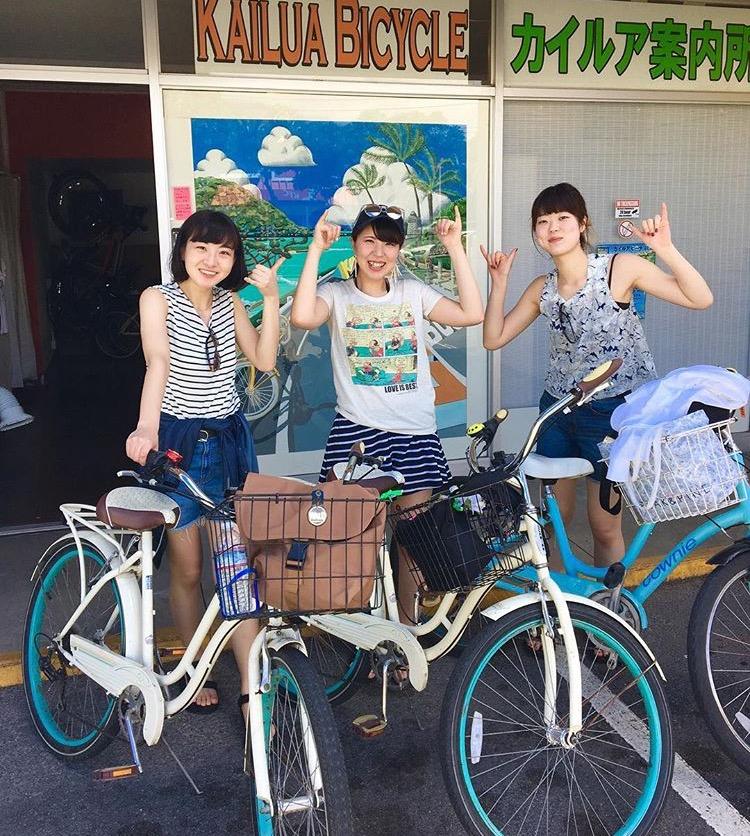 レンタル自転車で思い出作りを!
