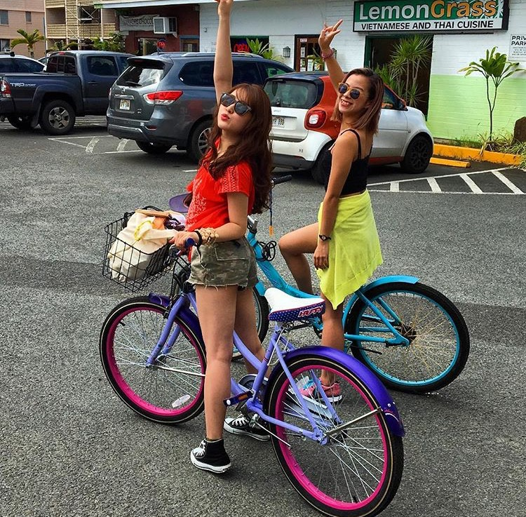 楽しいよ〜!カイルアでサイクリング!!!
