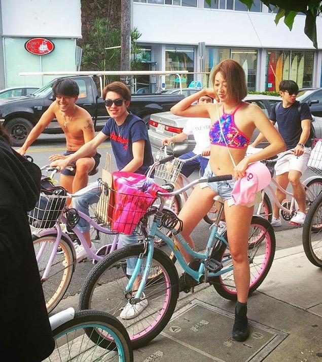 カイルアでサイクリング最高〜です!