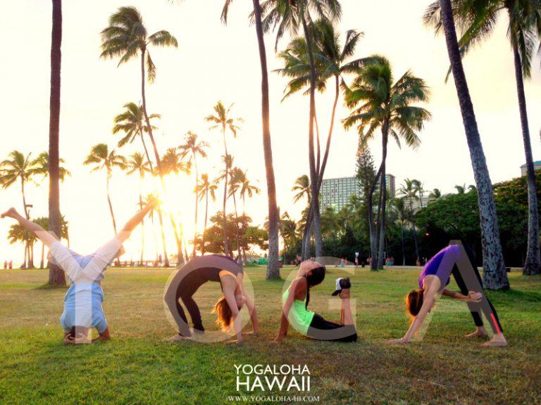 ハワイのキレイな空気を吸ってヨガをしよう