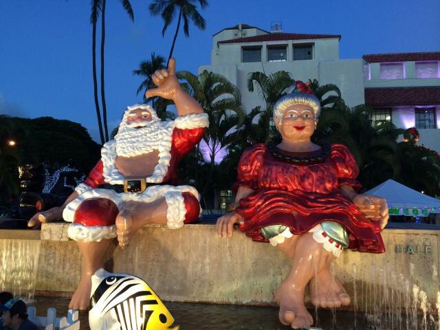 ハワイのシャカサンタ
