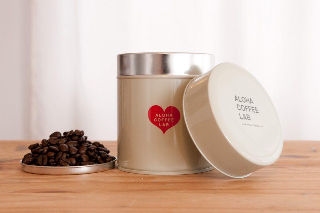 アロハコーヒーラボ コーヒー豆保存缶