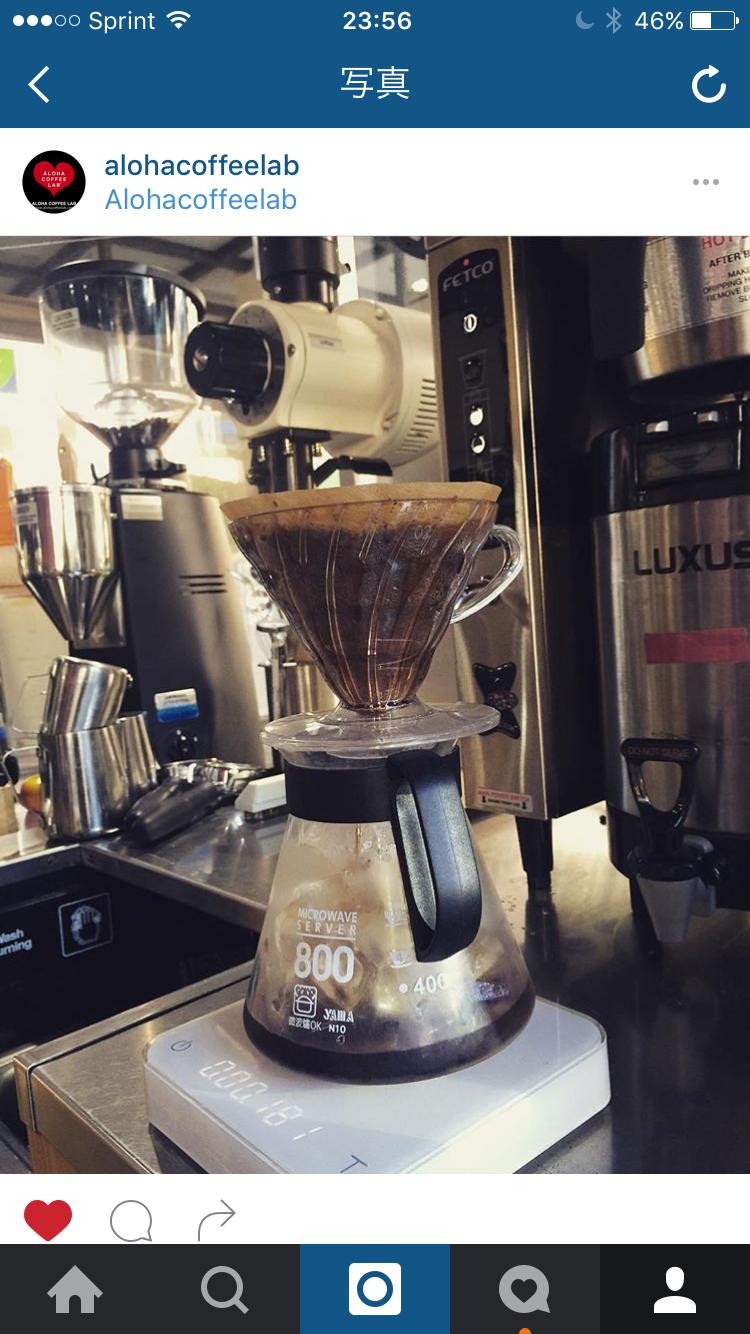 アイスコーヒーを毎日ブリューイング‼️