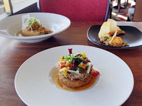 展望レストランで味わう期間限定コース料理