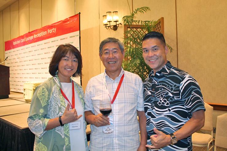 ハワイ州観光局のエリックさんとミツエさん