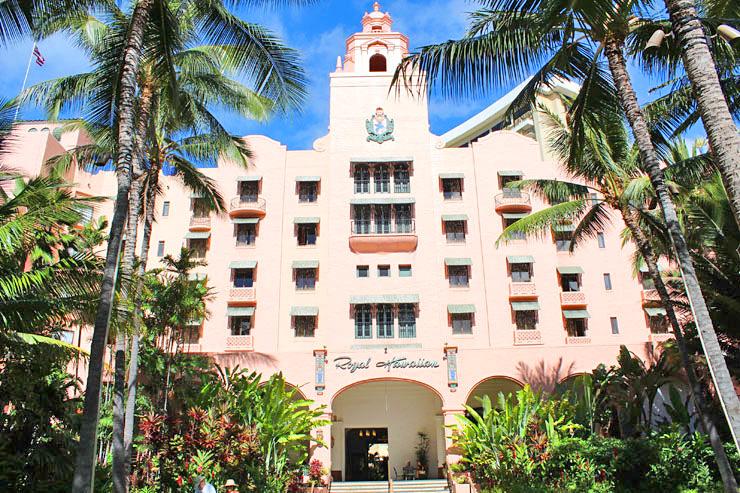 ロイヤル・ハワイアン・ホテルの外観