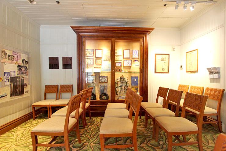 ホテル内の博物館「ヒストリカル・ルーム」