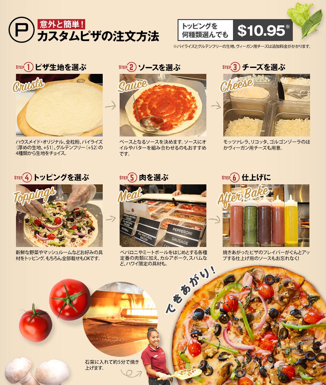 意外と簡単!カスタムピザの注文方法