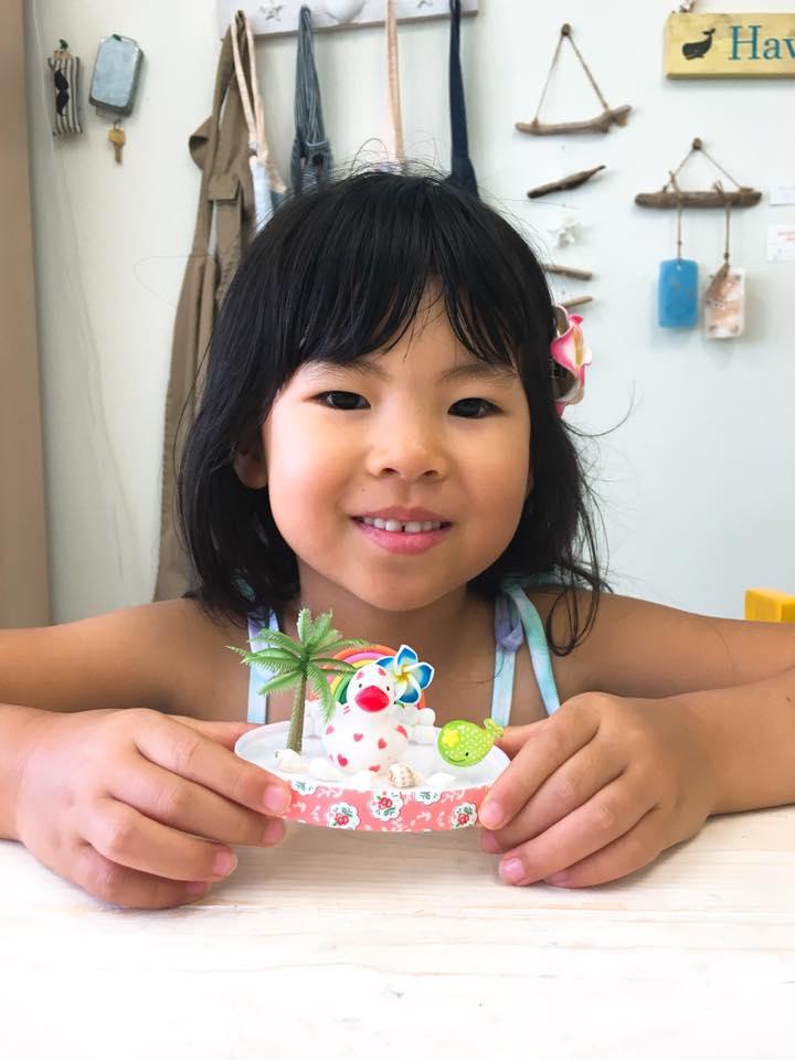 母娘で作るハワイの思い出スノードーム!
