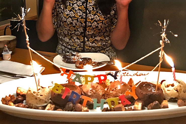 ファイヤーグリルでおいし楽しい誕生日ディナー