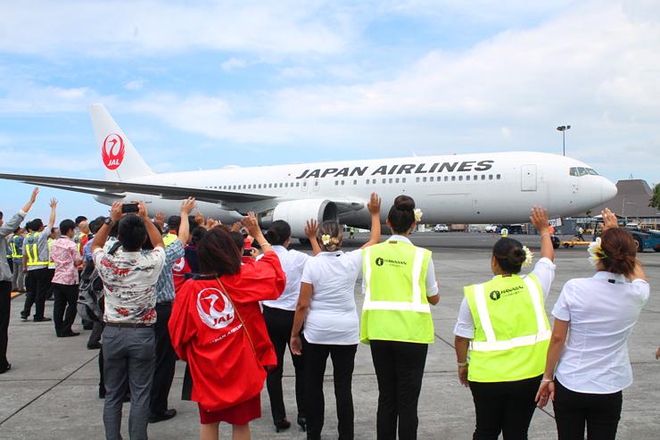 遂にこの日がやって来た!JALハワイ島直行便が就航
