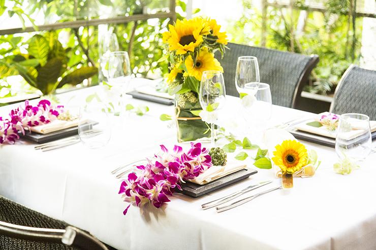 2018年春夏限定のテーブル装飾「Sunflower」