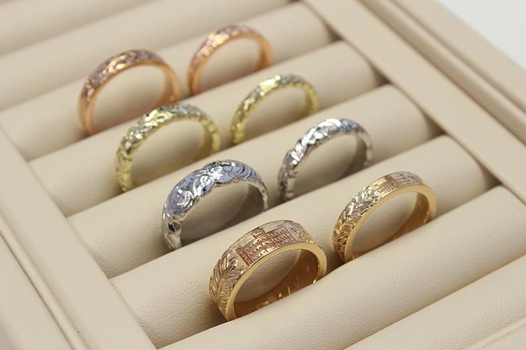 イオラニ宮殿をモチーフにした指輪など、ハワイの歴史を物語る神秘的なコレクションの数々に魅了される