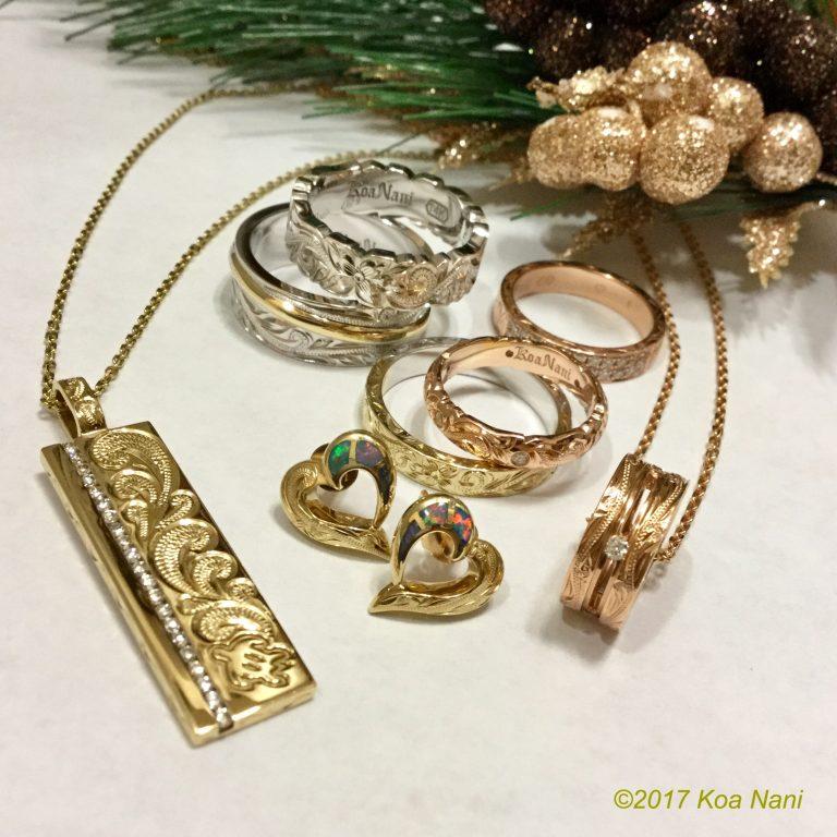 クリスマスプレゼントにハワイアンジュエリーはいかがですか。
