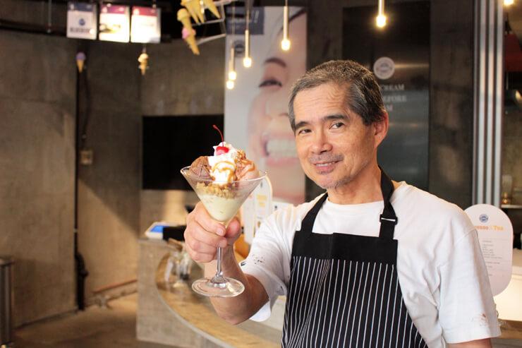 ハワイ産素材使用の自然派アイスクリームショップ