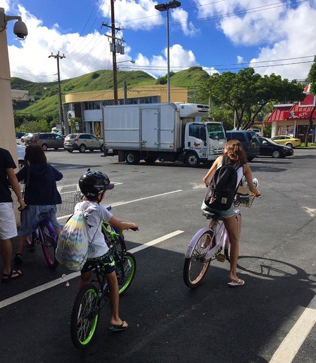 お子さんと一緒にサイクリング(カイルア編)