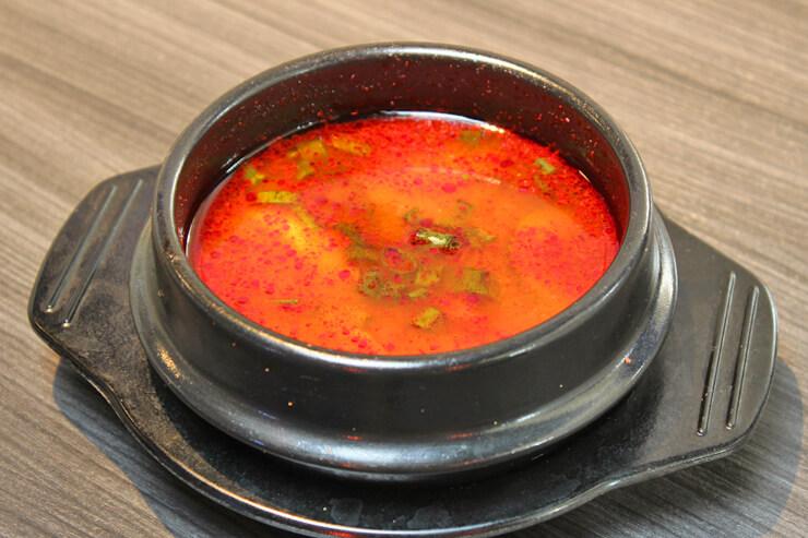 スパイシー豆腐スープ