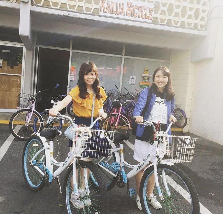 安心の日本語!カイルアでレンタル自転車