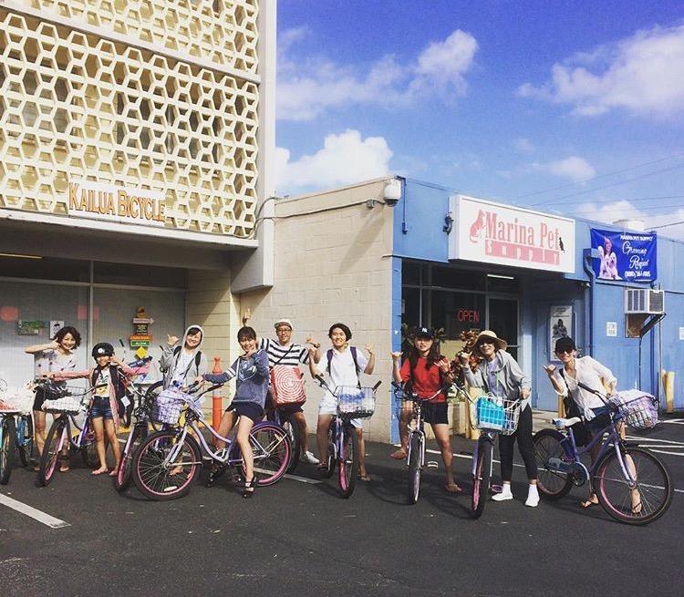家族みんなでサイクリング!