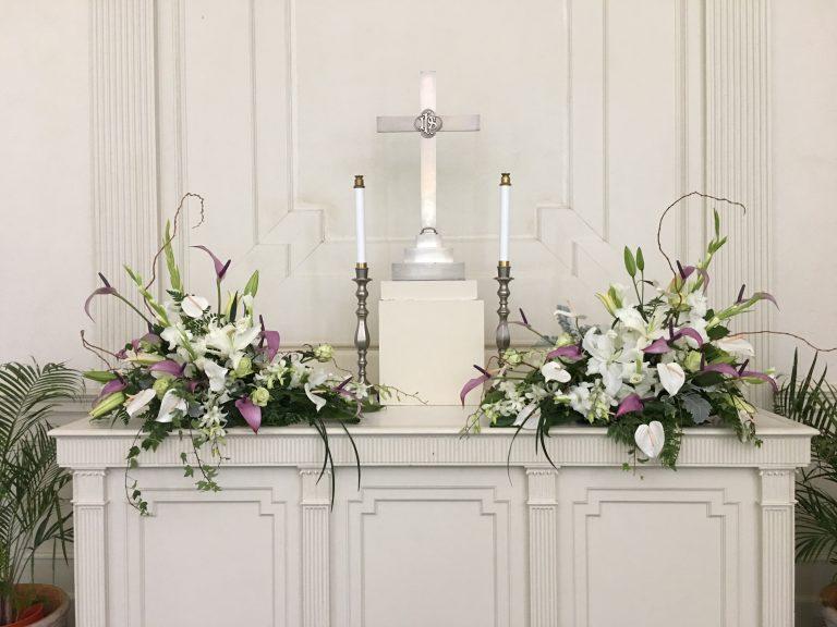 セントラルユニオン中聖堂、祭壇のお花