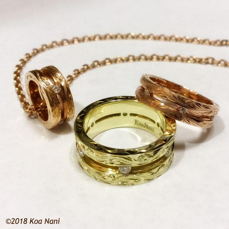 職人技が光るコアナニのダイアモンドリング