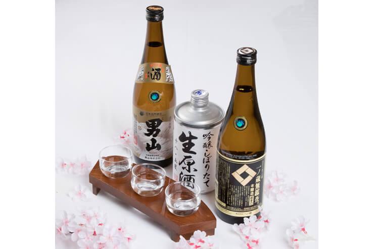 日本酒3種利き酒セット:$15