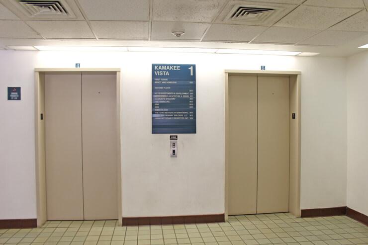 エレベーターに乗って3階へ。