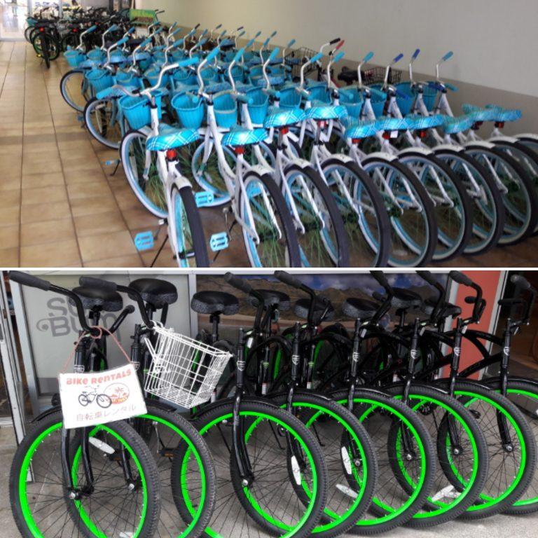 ラニカイビーチ・ラニカイピルボックスに行くには自転車で。