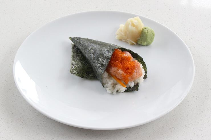 NYストリップステーキにセットで付いてくる手巻き寿司