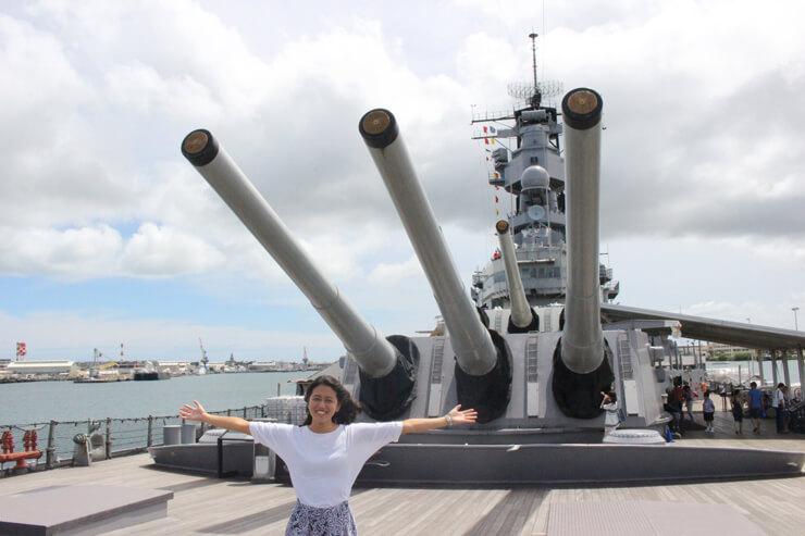 迫力2倍増し!改修工事を終えた戦艦ミズーリへ