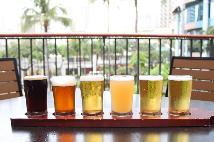 ビール・フライト6種:$12