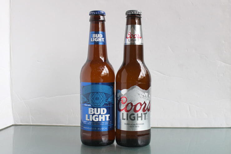 クワーズライト(右)、バドライト(左):各$4.45→各$2.80