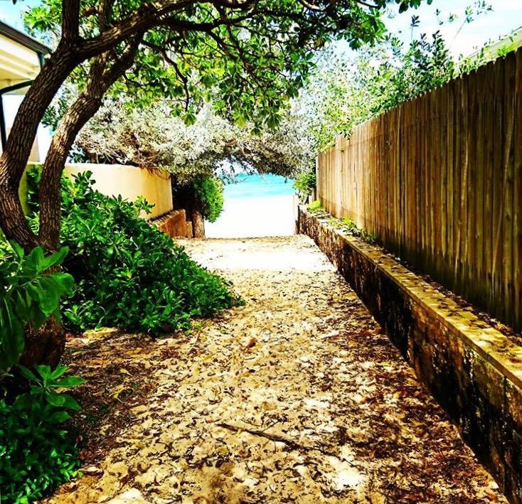 ラニカイビーチの小道へ