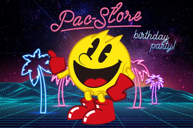 話題のカフェでパックマンの誕生日を祝おう