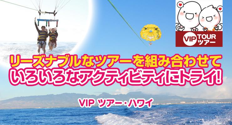 リーズナブルなツアーを組み合わせていろいろなアクティビティにトライ! VIP ツアー・ハワイ