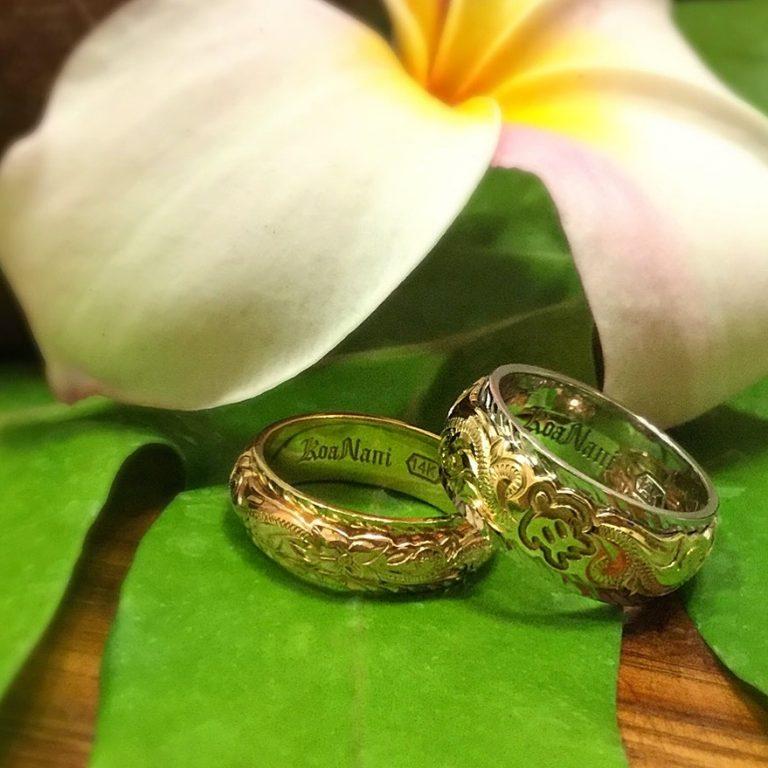 深い愛情の証し。コアナニの結婚指輪