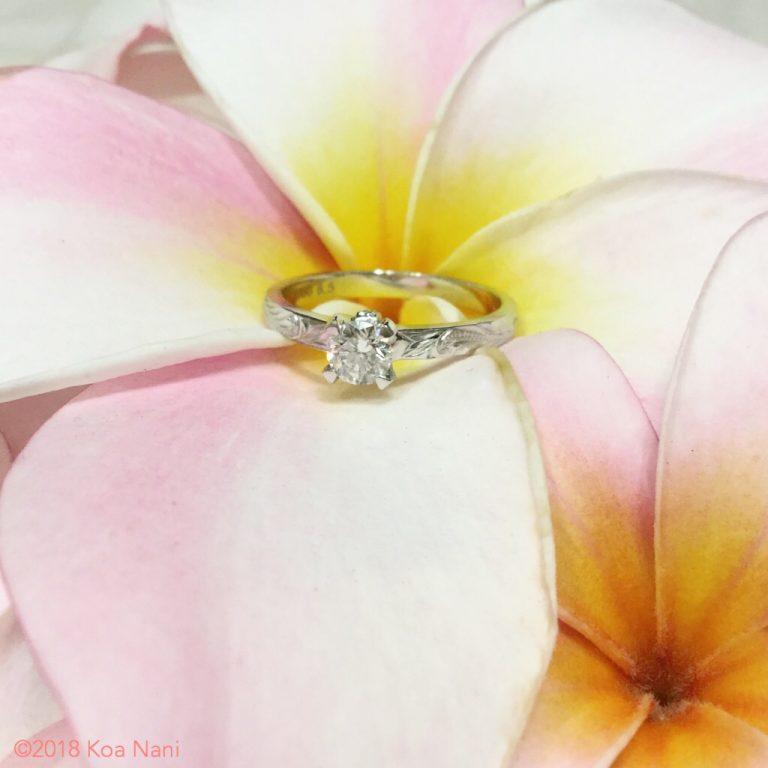 女性の憧れ!婚約指輪もハワイアンジュエリーで