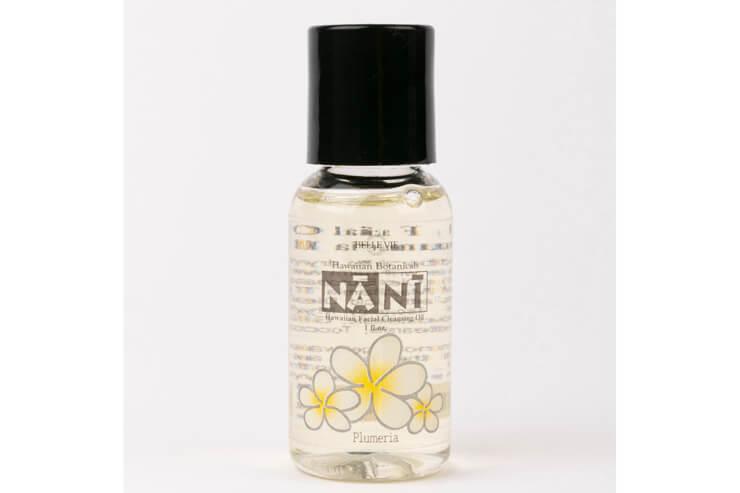 ハワイ産ククイやマカダミアなどを配合したクレンジングオイル「MINI-NANI」$5