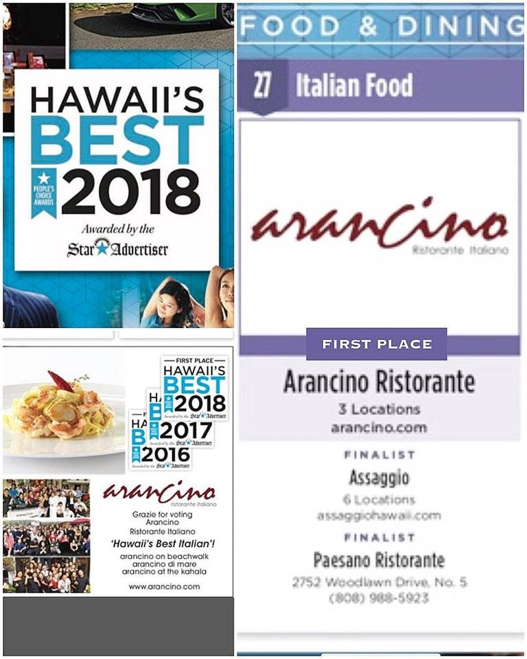 Hawaii's Best Italian 2018