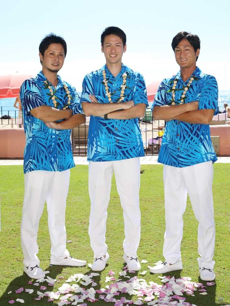 ハワイアンなグルームズマンと楽しむコロナ結婚式