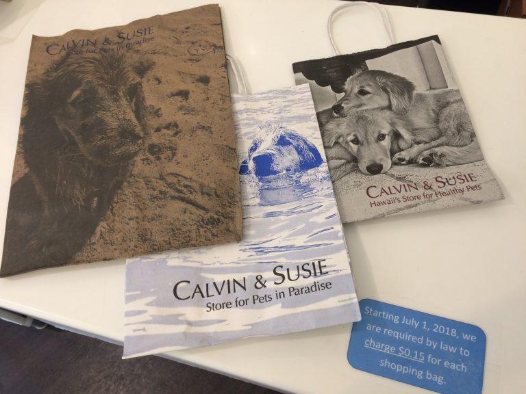カルビン&スージー・お買い物袋が有料になりました