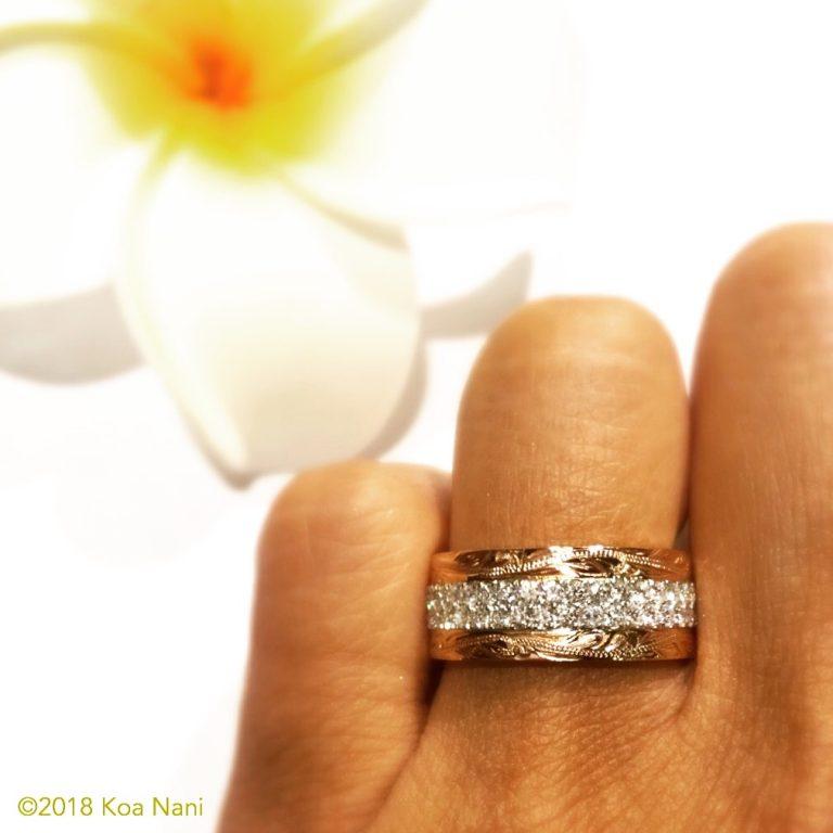 目を奪われるような美しさ、コアナニダイアモンドリング