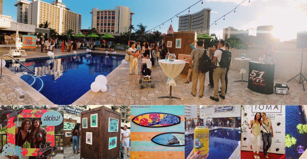 ワイキキ・ビーチコマーで無料美術展を開催
